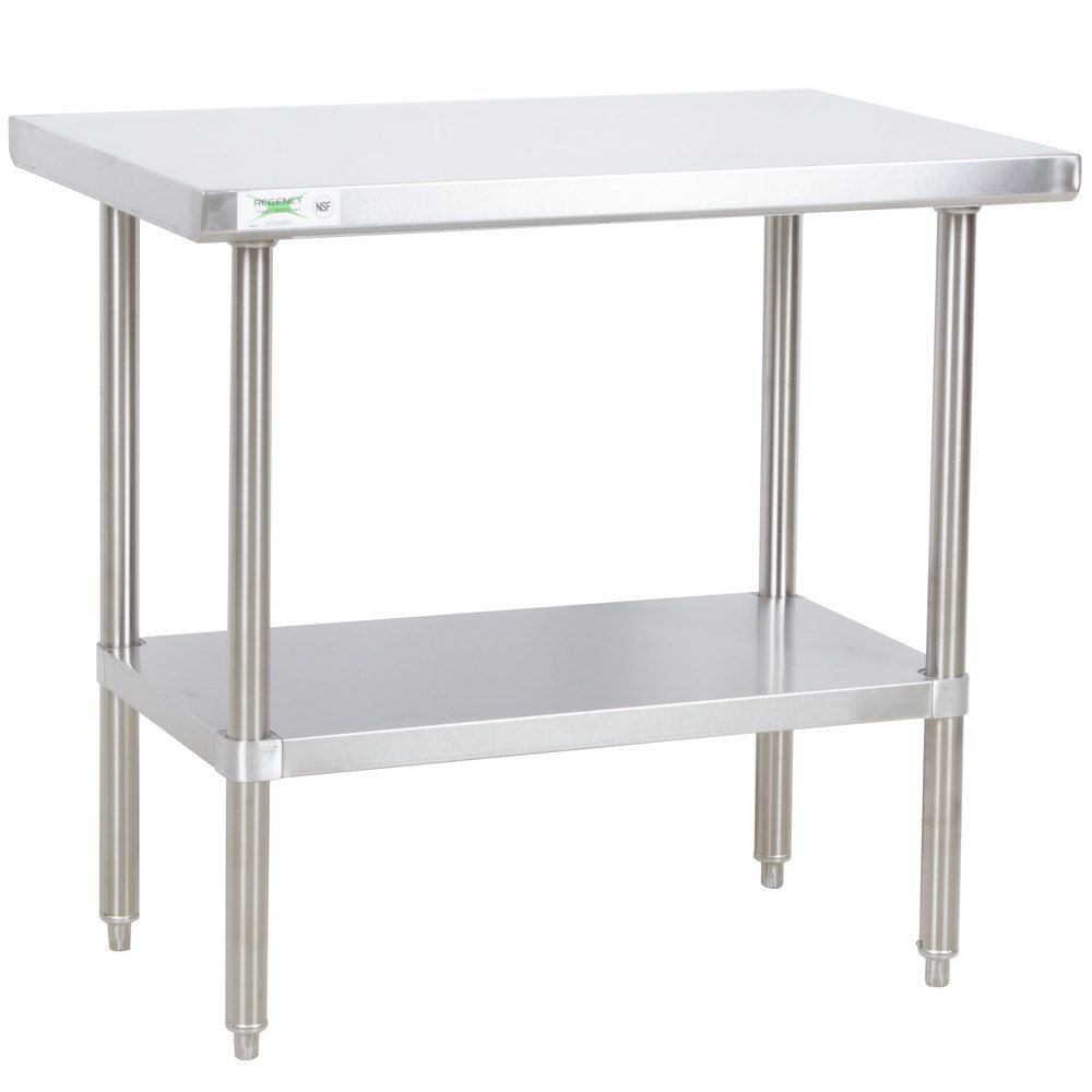 Regency X All Gauge Stainless Steel Commercial Work - Stainless steel table 18 x 24