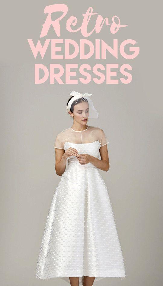 Darling Retro Wedding Dresses | Retro wedding dresses, Wedding dress ...