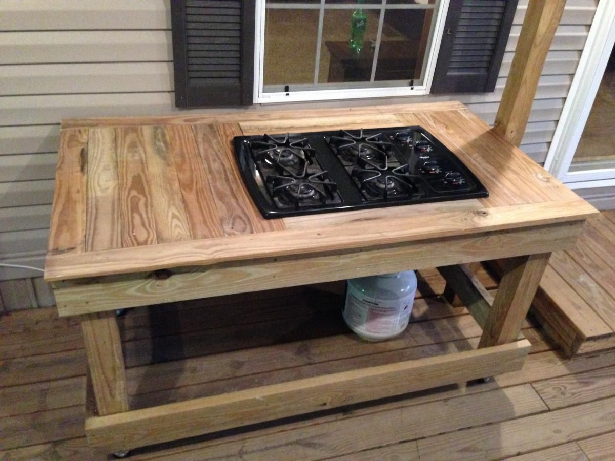 do it yourself outdoor kitchen glass top table set gas stove for the camp deck posted in