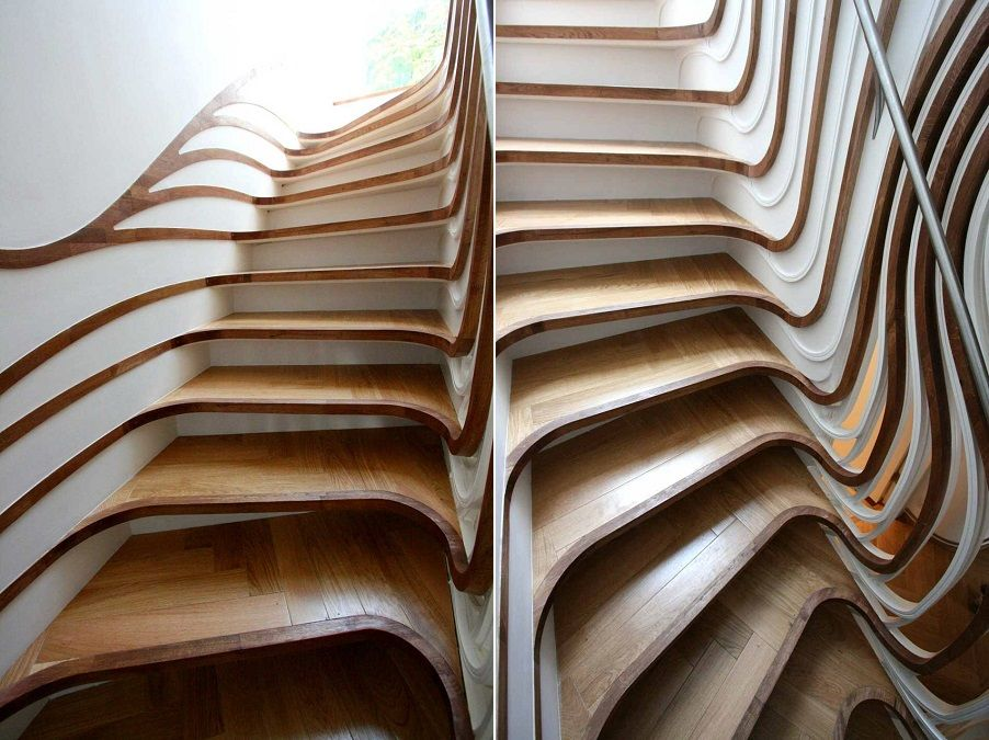 These Art Nouveau Stairs Have Been Created By Harnessing Modern Digital  Fabrication Techniques To Put A Twist On Popular Century Art Nouveau Design.
