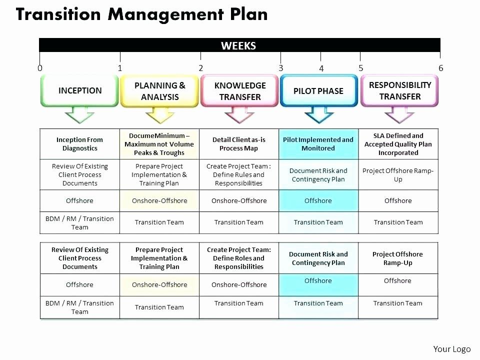 Project Transition Plan Template Excel New 40 Transition