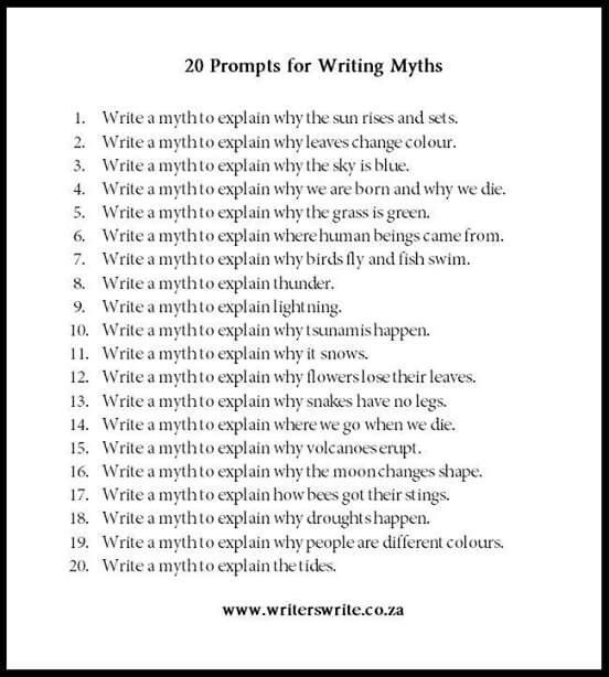 myth writing examples