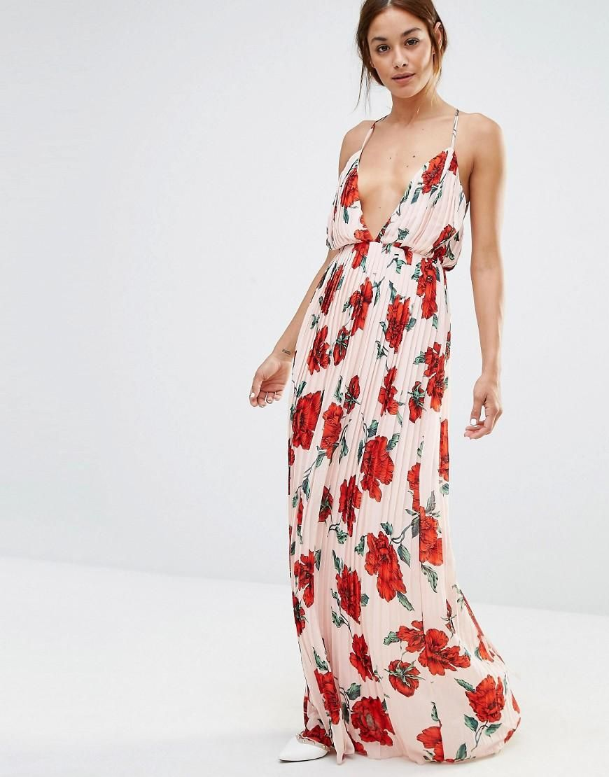 Frill Detail Maxi Dress - Floral Missguided Tall Shipping Discount Sale Buy Cheap Wide Range Of CzF1hFe