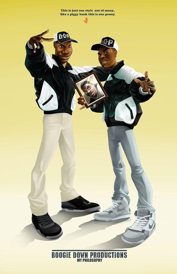 Boogie Down Production Hip hop artwork