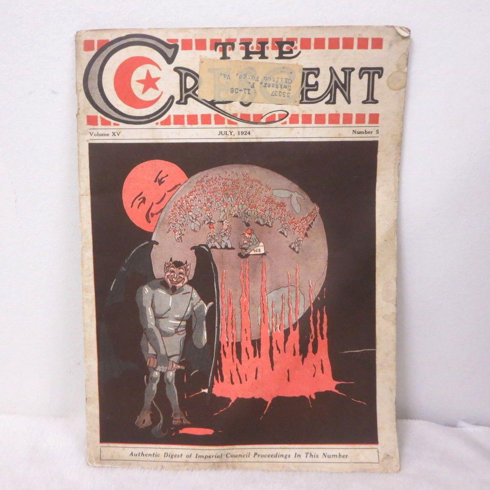 Vintage Imperial Council Proceedings Magazine Shriners 1924 Devil Cover Art