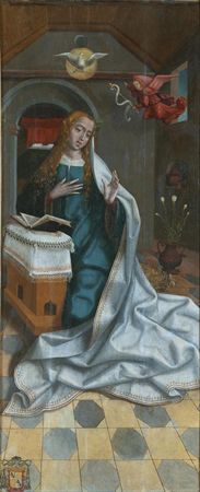 Anunciação à Virgem | Museu Francisco Tavares Proença Júnior | Oficina de Viseu, Primeira metade do século XVI.