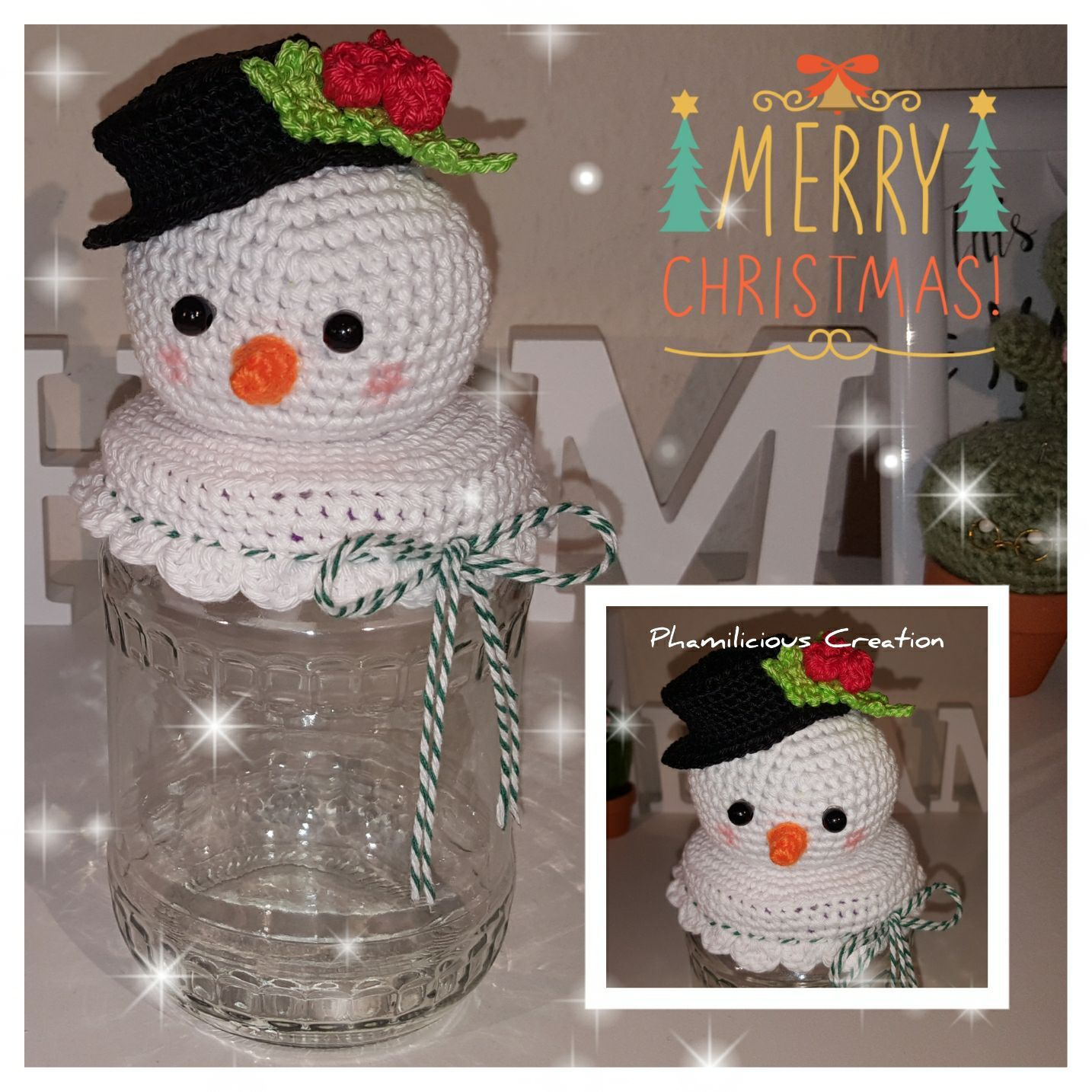 Christmas Crochet Jar Lid Cover Free Pattern Crochet Jar Covers Jar Lid Cover Christmas Crochet