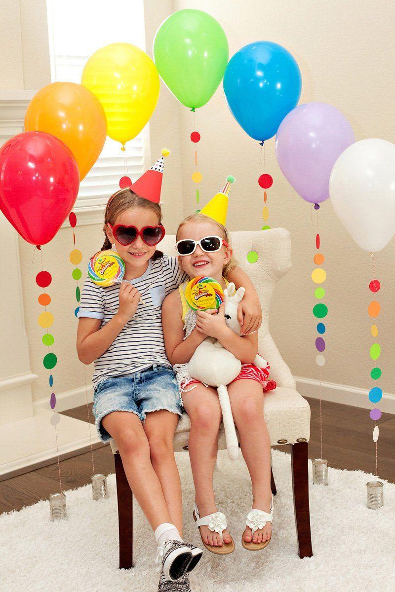 Rainbow Balloon Tassel Tutorial Festive Party Chair Rainbow