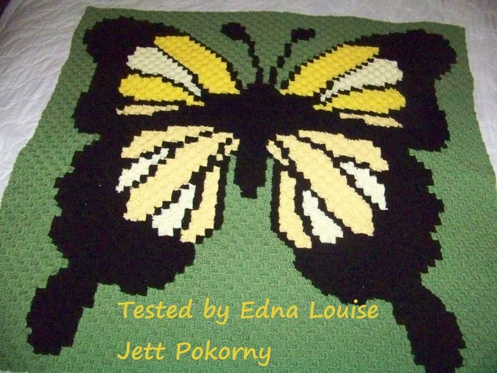 Looking for your next project? You\'re going to love Butterfly Afghan ...