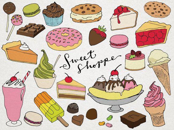 desserts clipart sweet shoppe clip art hand drawn clip art ice rh pinterest co uk desserts clipart free desert clip art free