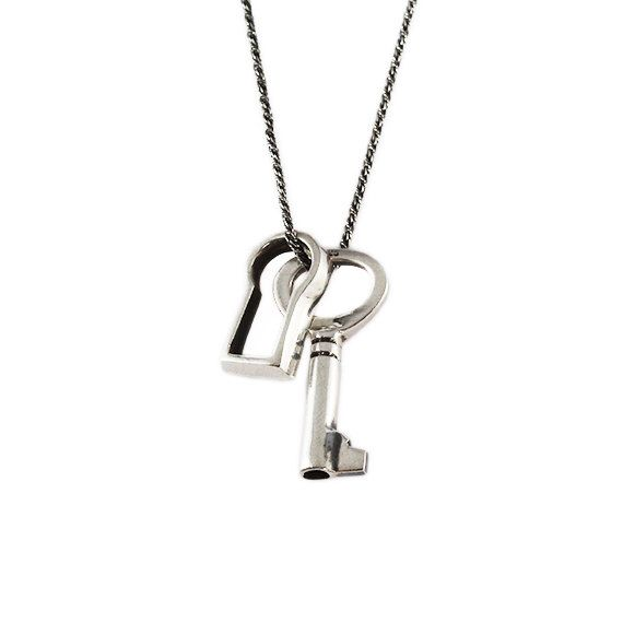 p jewellery lock stainless tommy hilfiger code steel and pendant key