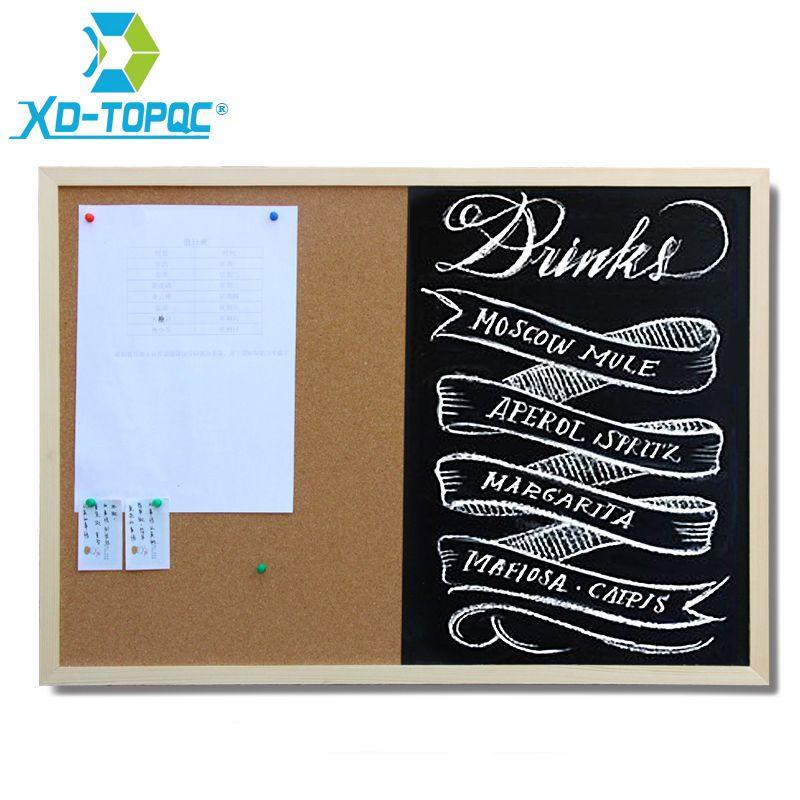 XINDI 2017 30*40 cm Kombination Tafel und Kork Bord 1:1 Tafel ...