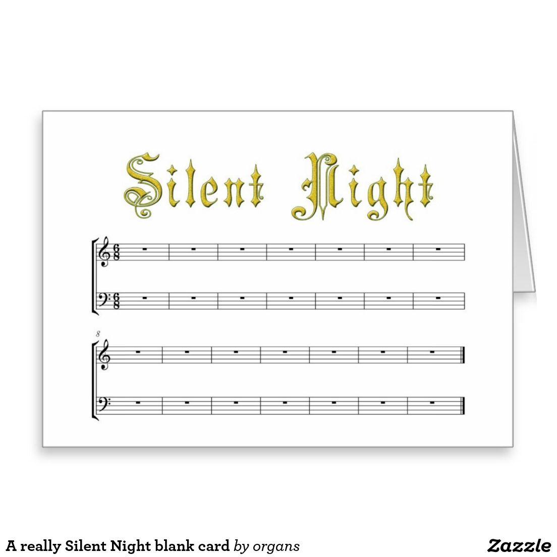 A really Silent Night blank card
