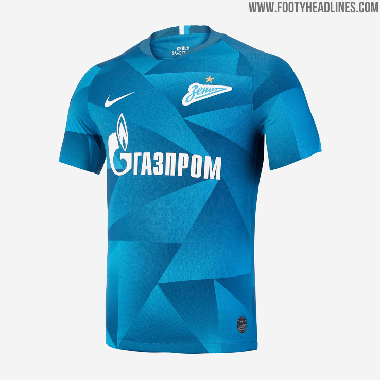 Nike Zenit 19 20 Home Kit Released Footy Headlines In 2020 Nike Football Kits Mens Tops