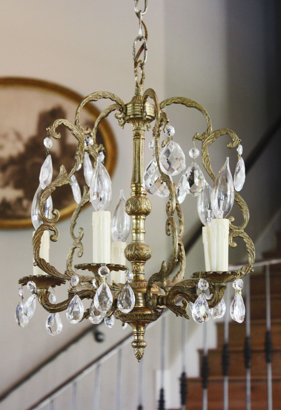 Antique Brass Birdcage Style Crystal Chandelier Vintage Interior Design Birdcage Chandelier Crystal Chandelier