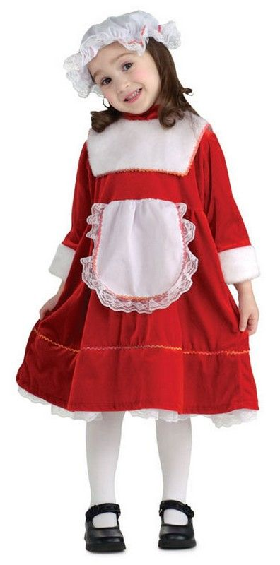 girls miss santa christmas costume 2381 costume includes the redwhite dress with attached apron and the white cap christmas costumes