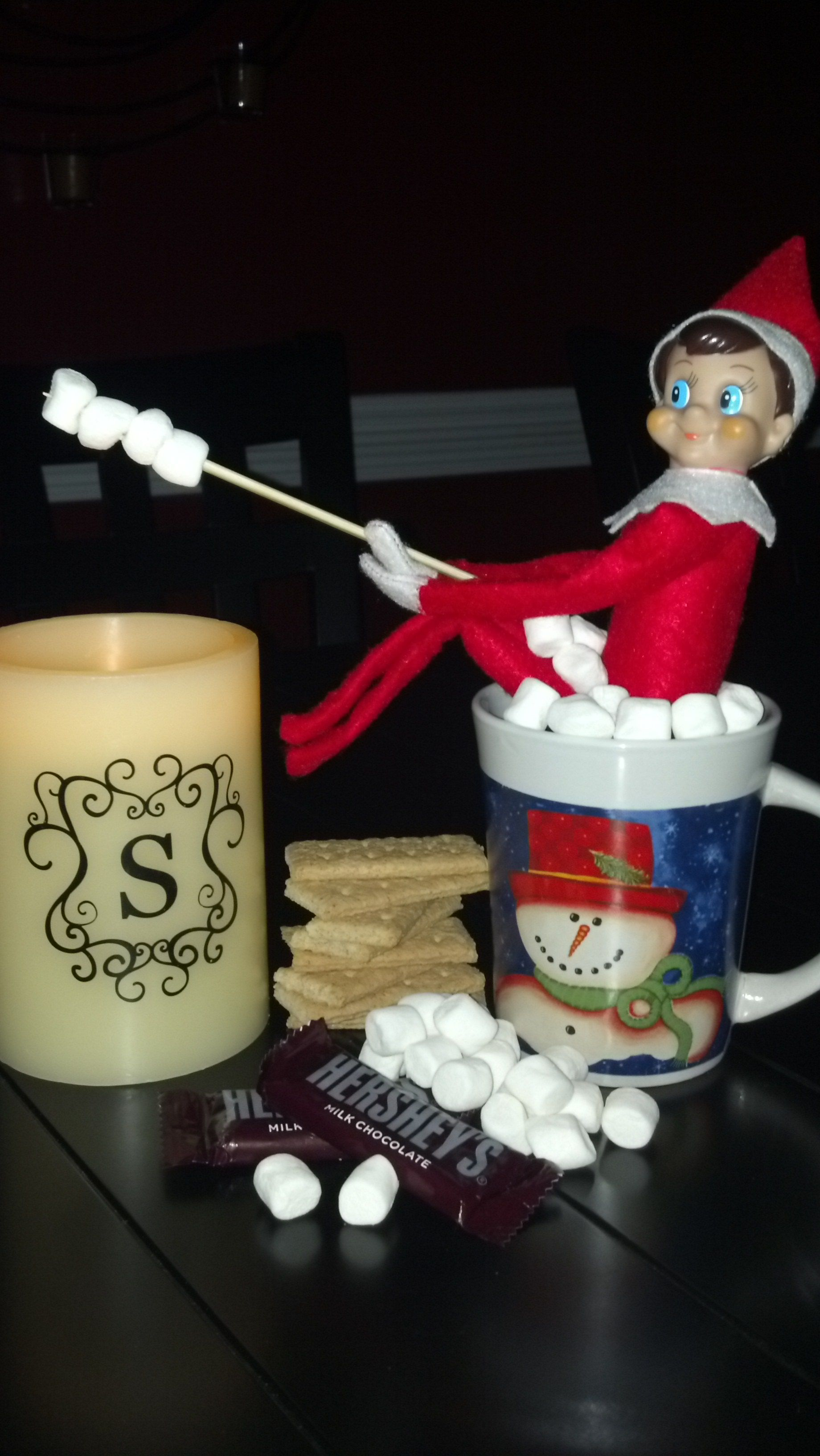 S'mores!  Elf on the Shelf.