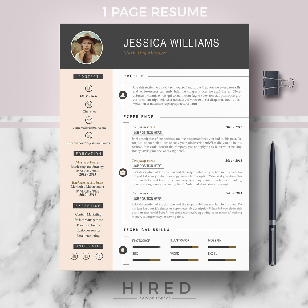Making A Resume In Word from i.pinimg.com