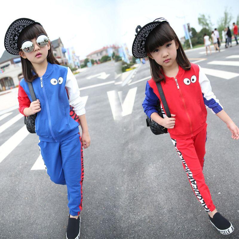 7159586fd Sportswear For Girls 3-10 Year Children Clothing Set Autumn Winter ...