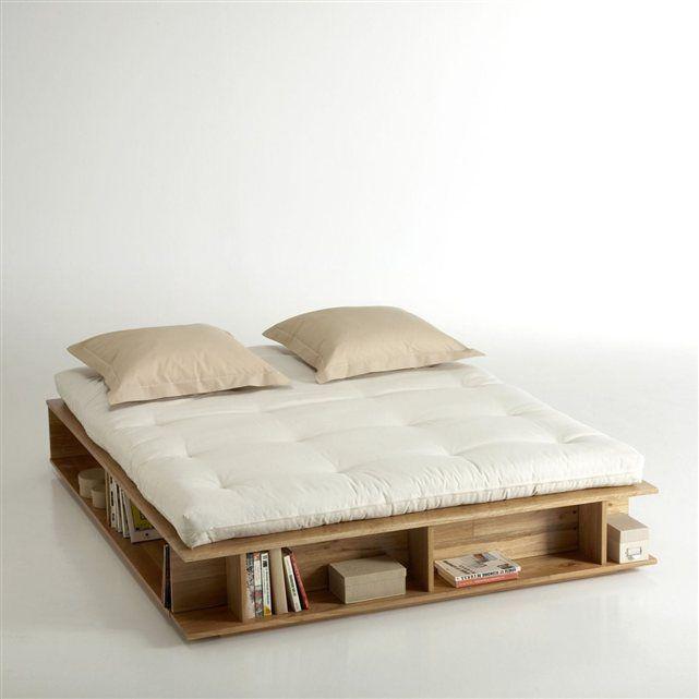 image lit rangement sommier relevable pin presto la. Black Bedroom Furniture Sets. Home Design Ideas