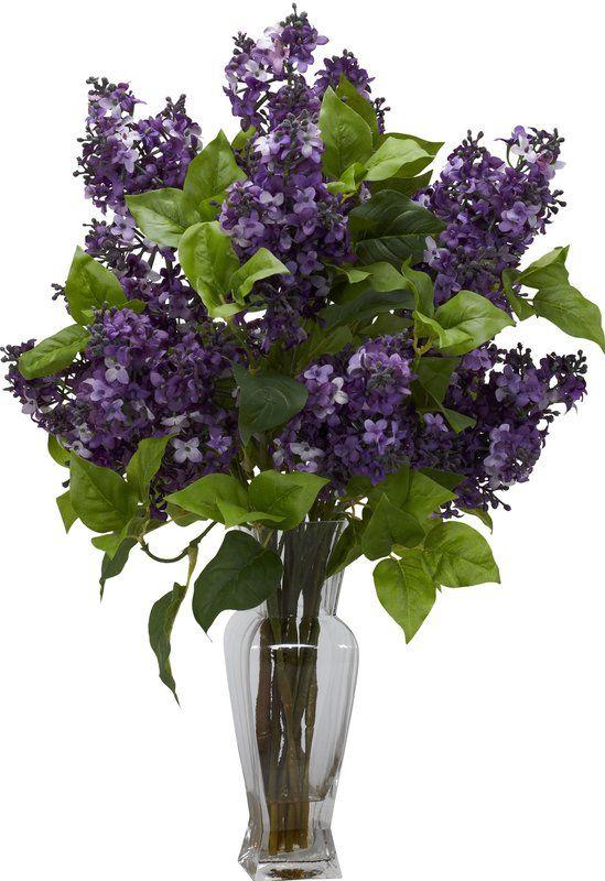 Lilac Floral Arrangement In Vase Artificial Flower Arrangements Fake Flower Arrangements Silk Flower Arrangements