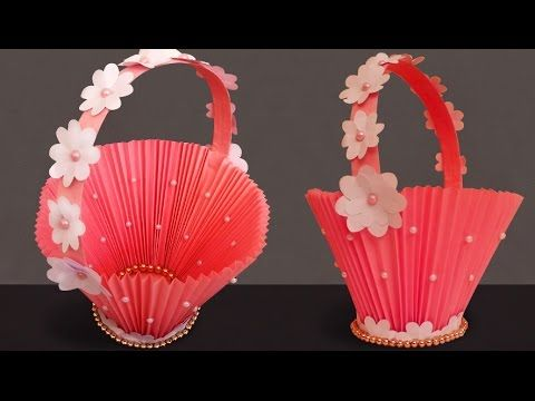 Diy paper basket how to make easy accordion paper basket for diy paper basket how to make easy accordion paper basket for chocolates christmas gift basket mightylinksfo