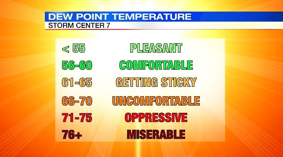 Graphic by Brett Collar Humidity, Point, Weather