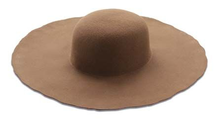 Brown Standard Wool Felt Hat Blank Unlined Wool Felt Felt Hat Round Hat