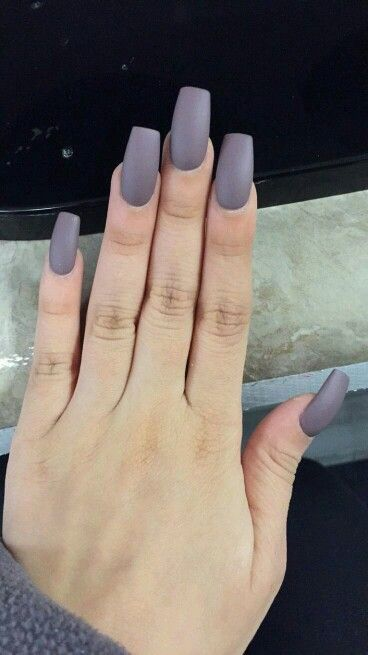 Squared Matte Gray Are You Looking For Fall Nail Colors Design This Autumn See Our Collection Full Of Cute Ideas