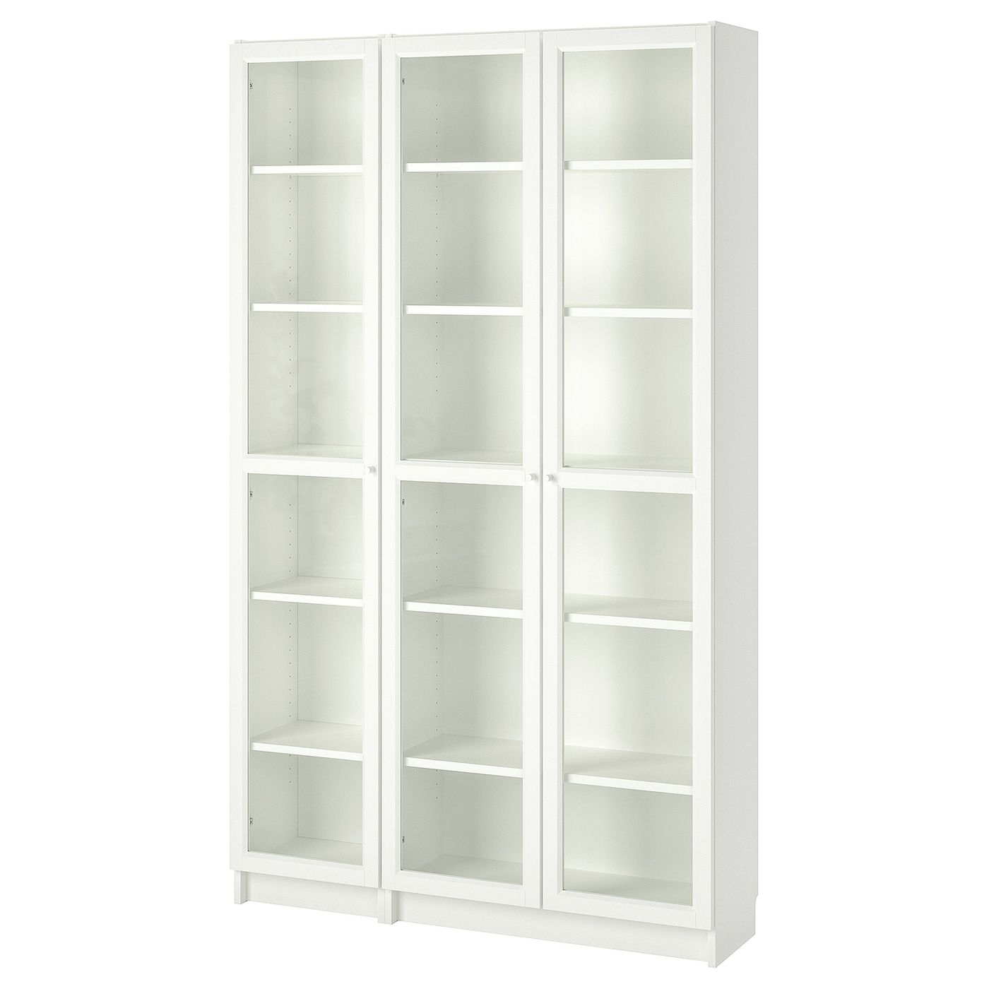 Billy Oxberg Bibliotheque Vitree Blanc 120x30x202 Cm Ikea In 2020 Glass Bookcase Bookcase With Glass Doors Glass Cabinet Doors