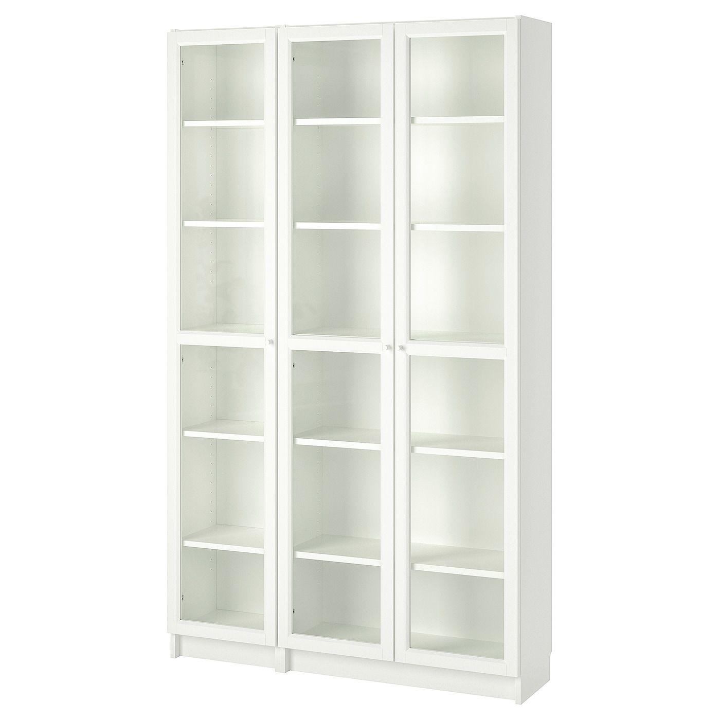 Billy Oxberg Bibliotheque Vitree Blanc 120x30x202 Cm Ikea In