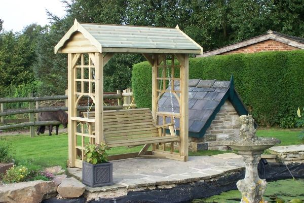 The Ultimate In Style And Sophistication Our Arbour Swing Complimented With A Western Red Cedar