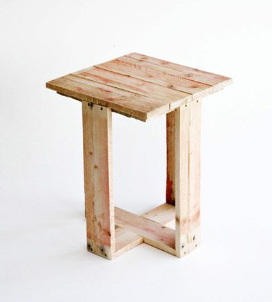d-i-y: pallet chair (and stool and lamp | Mesas, Palets y Madera