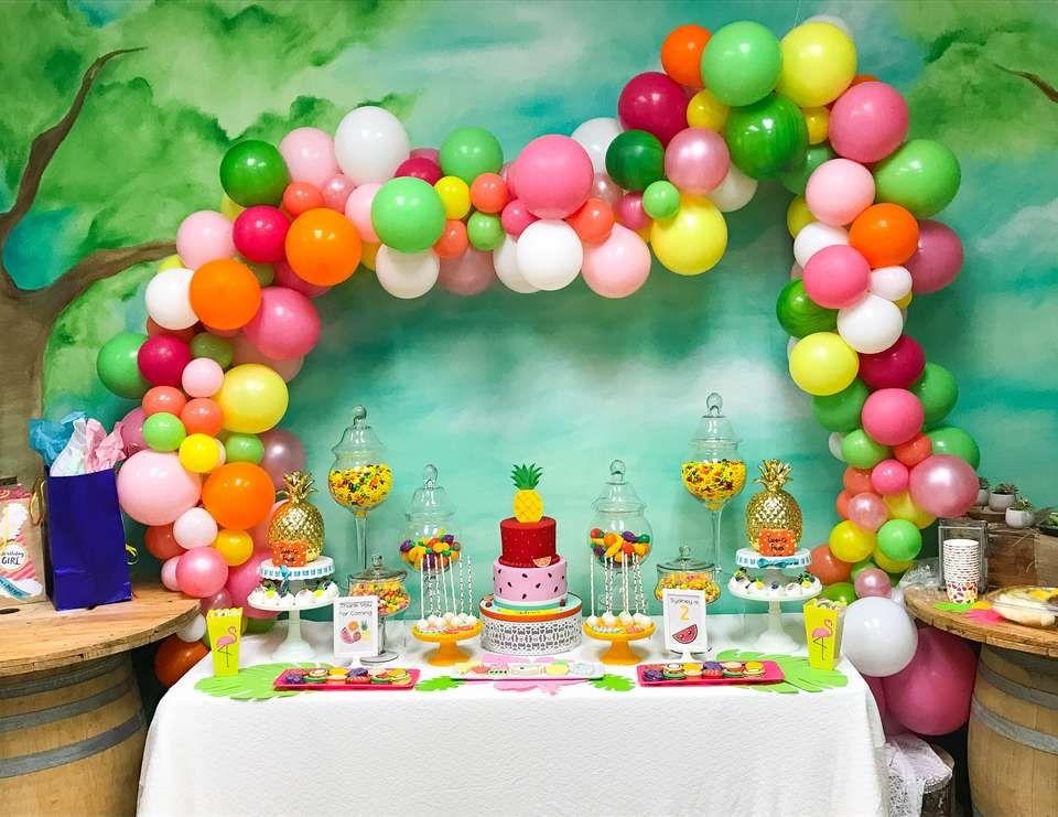Tutti Fruity Birthday Sydney S Two Tii Fruity 2nd Birthday Catch My Party Maleficent Birthday Party Birthday Tutti Frutti Birthday Party