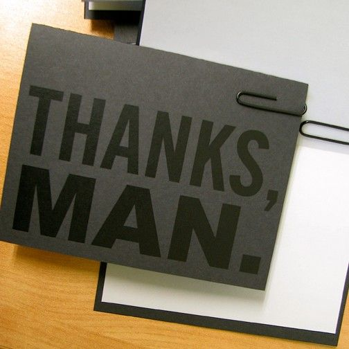 The Manly Thank You Card Six Card Bundle Envelopes By Ekdgoodies