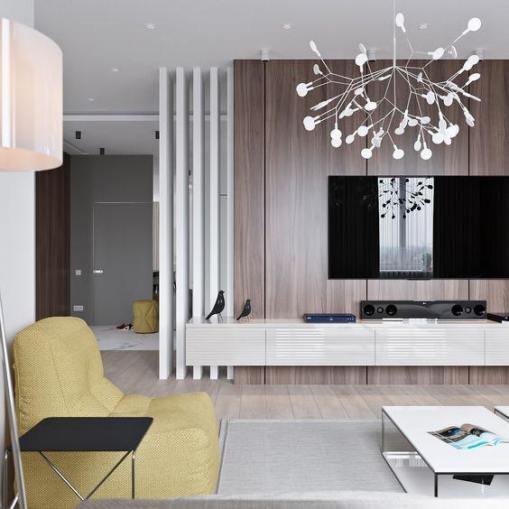 3 light interiors with creative pops of color design sticker