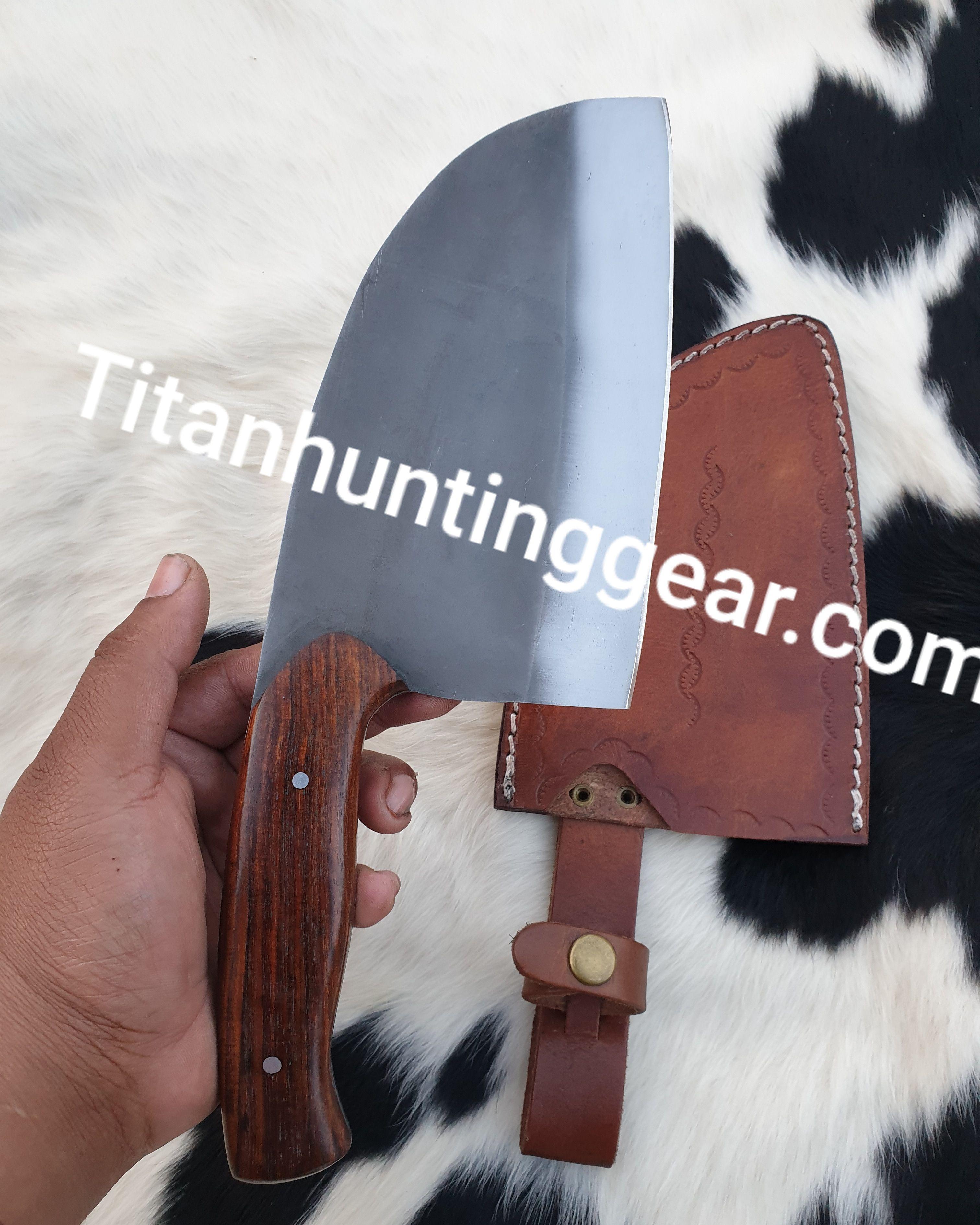 Custom made 1095 steel chopper knife