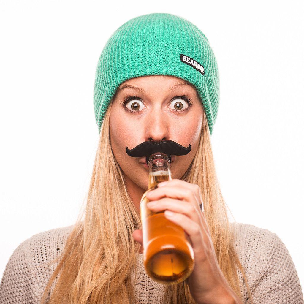 bottle mustache