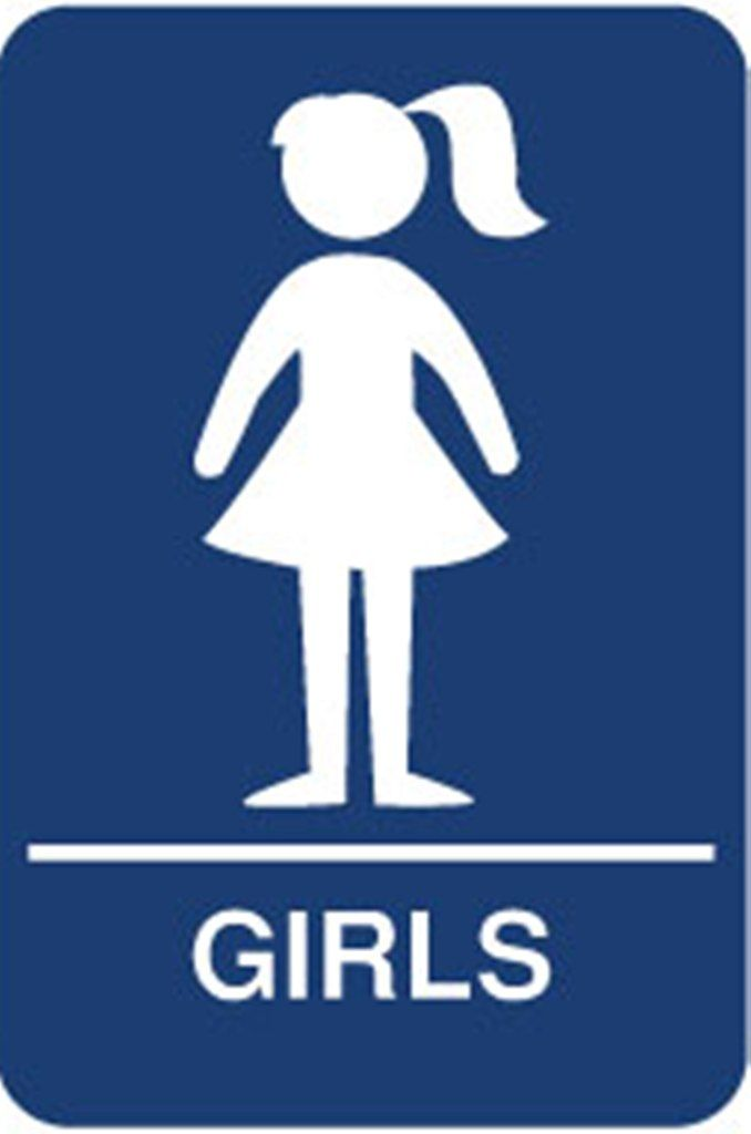 Bathroom Boy And Girl Bathroom Sign Clipart