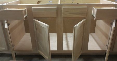 60 In Single Sink Bathroom Vanity Cabinet In Unfinished Poplar Shaker Style Unfinished Bathroom Vanities Single Sink Bathroom Vanity Bathroom Sink Vanity