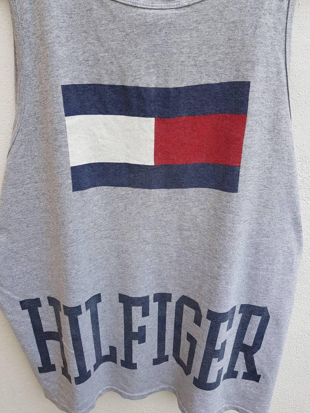 0d06e37d284 Go Go Go!!! RARE Vintage 90s TOMMY HILFIGER Spell Out Big Flag Hip ...