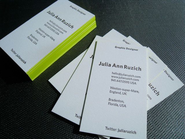 Love use of neon and white take my card pinterest thick business cards check out 50 thick edge colored business cards that will make your head turn gone are days when all the business cards looks the colourmoves