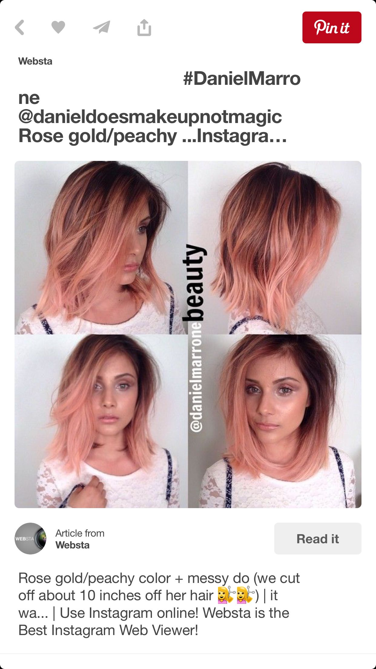 Get This With Overtone Rose Gold