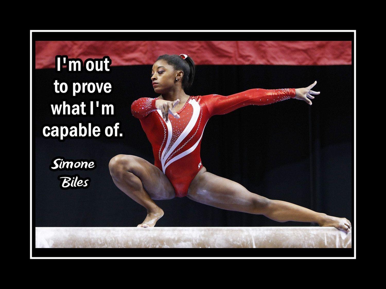 Girl Gymnast Decor Gymnastics Wall Art Motivation Daughter
