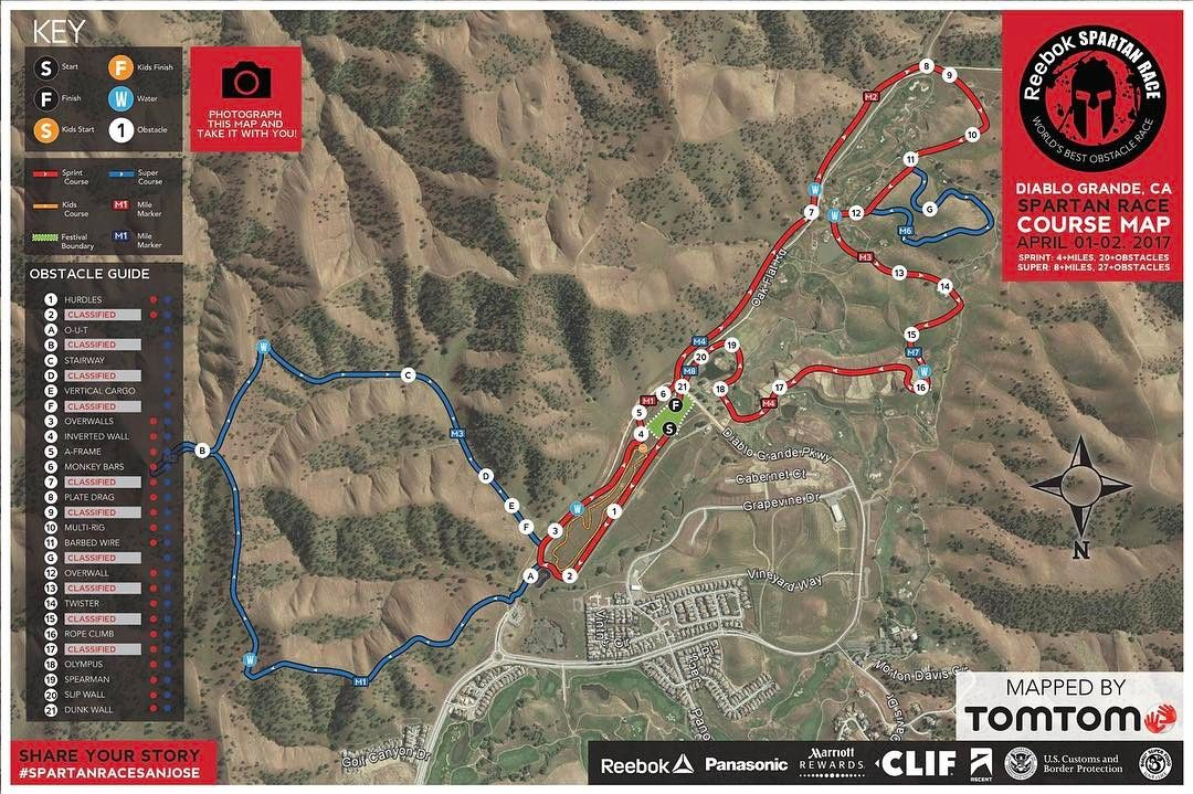 2017 spartan san jos super at diablo grande course map i ran