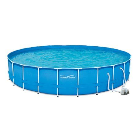 Summer Waves 24\' x 52 inch Metal Frame Above Ground Swimming ...