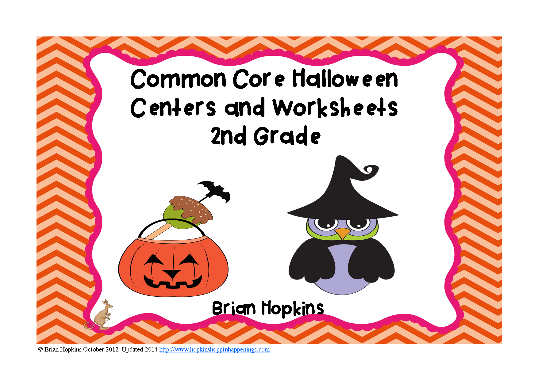 Halloween Themed 2nd Grade Reading And Math Centers