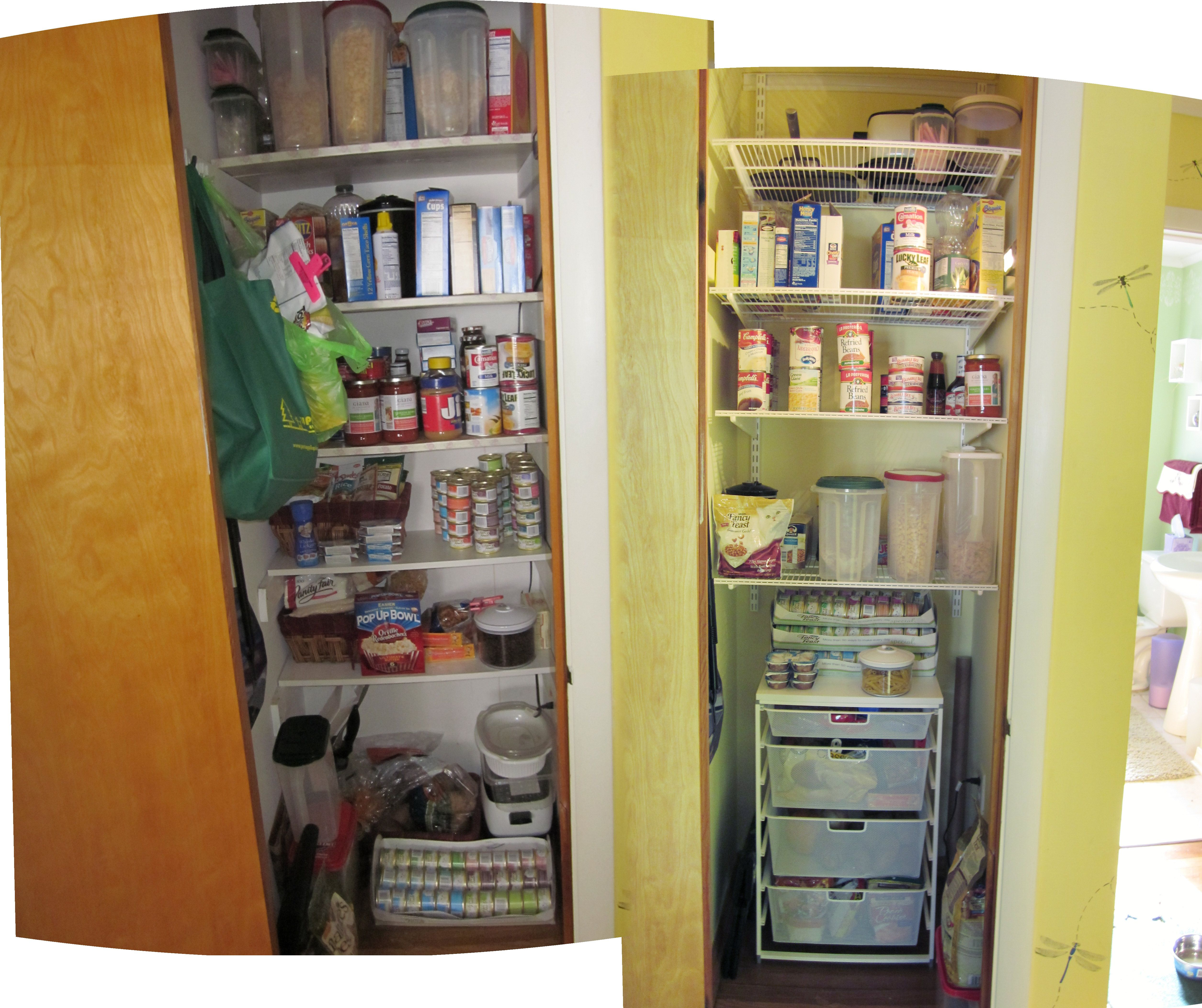 Before After Of My Pantry Used The Elfa System From Container Easy And Affordable
