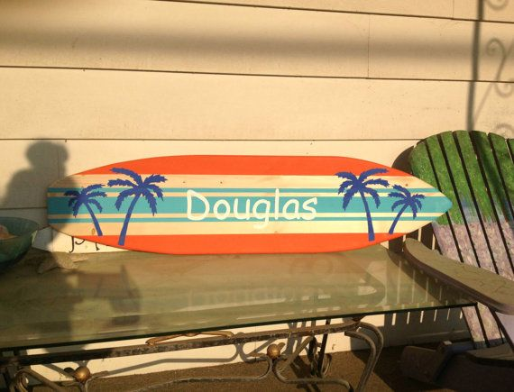 4 foot wood surfboard wall art with by SerendipitySurfShop on Etsy ...