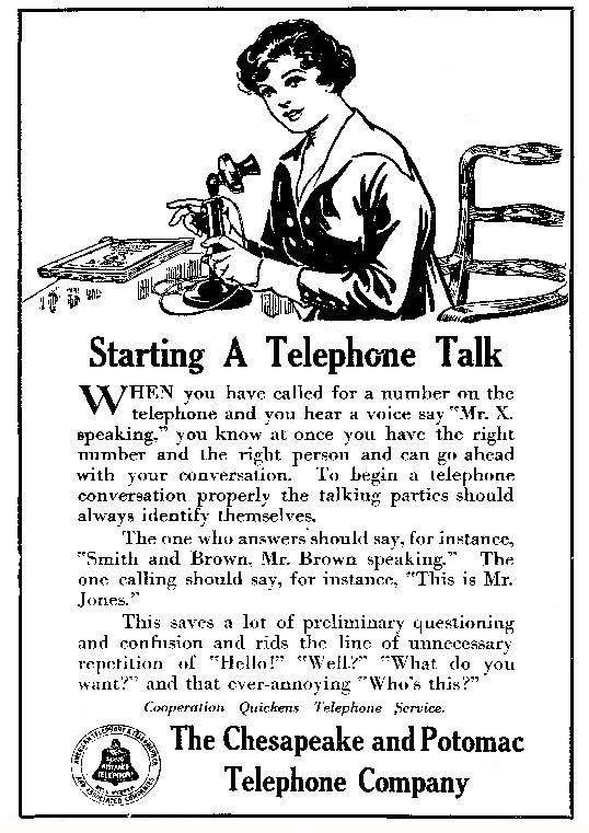 How to Use the Telephone, 1917